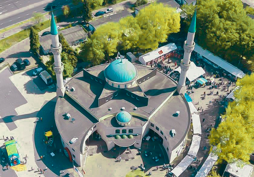 Bovenaanzicht moskee